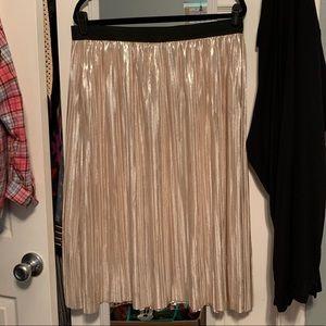 Xhilaration metallic shiny gold skirt size XXL